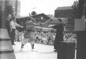 Fig. 2. Maître Otake lors de la commémoration du 375e anniversaire du commerce entre le Japon et les Pays-Bas à Rotterdam.