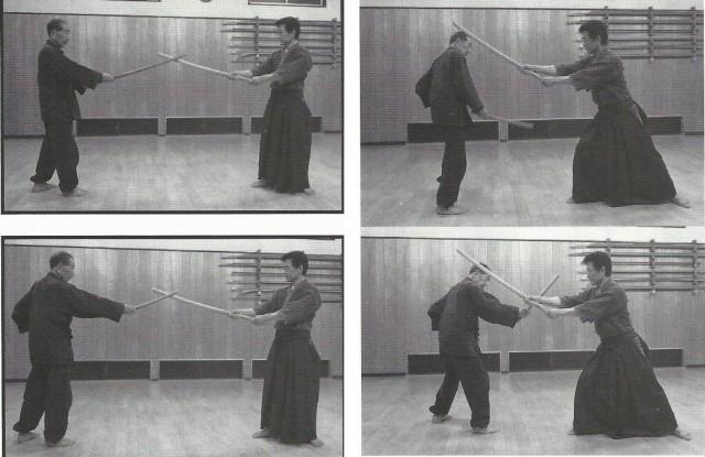 Bien que le kodachi soit une arme courte, quand on prend la garde seigan-no-kamae à une seule main, on peut étendre le bras et la distance (maai) devient la même que celle qui sépare deux adversaires munis d'un sabre long. Dans l'école Katori shintō, on dit « Une attaque à une seule main à un avantage de 5 sun ». La personne qui a le sabre long pense que l'arme adverse est courte et il attaque de manière relâchée. Il a alors perdu. Comme on le voit sur la photo du bas, si on évite une coupe au sabre long, on peut couper facilement.