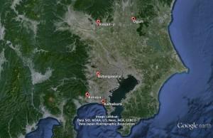Géographie de la bataille de Bubaigawara (1455)